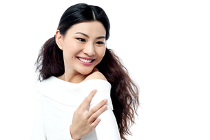 Cheerful smiling young womanの写真素材 [FYI00661689]