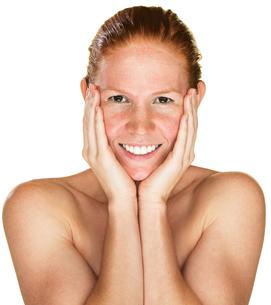 Laughing Fresh Womanの写真素材 [FYI00661902]