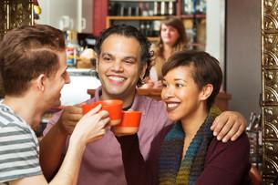 Friends Sharing Drinksの写真素材 [FYI00661907]