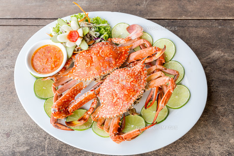 steam crab seafoodの写真素材 [FYI00661925]