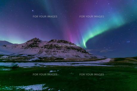 Northern Light Aurora Icelandの写真素材 [FYI00661933]