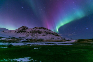 Northern Light Aurora Icelandの写真素材 [FYI00661933]