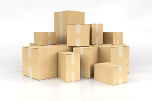 Pile of boxesの写真素材 [FYI00661948]