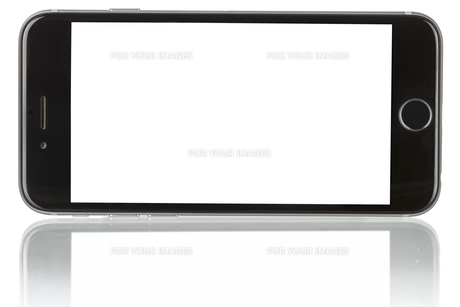 New Phone with blank screen on white backgroundの素材 [FYI00662036]