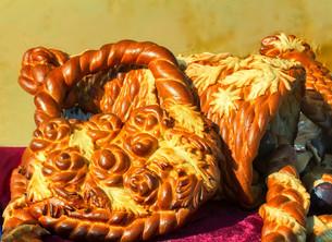 Beautiful cake original form. Sold at the fair.の写真素材 [FYI00662073]