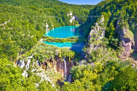 Paradise waterfalls of Plitvice lakes national parkの写真素材 [FYI00662101]