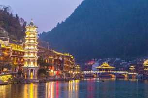 Fenghuang ancient town Chinaの写真素材 [FYI00662249]