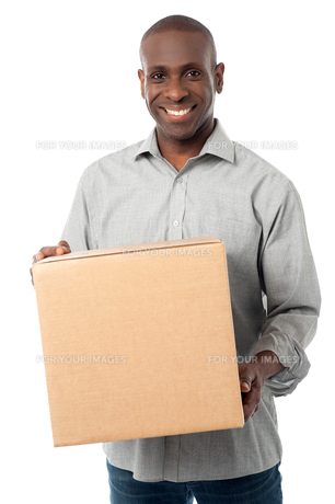 Got delivered my parcel.の写真素材 [FYI00662301]