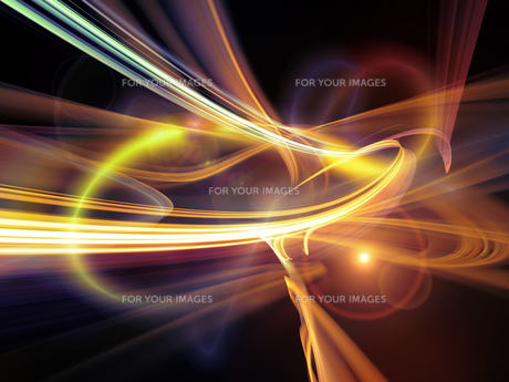 Evolving Light Trailsの写真素材 [FYI00662306]
