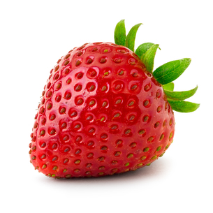 Strawberry isolated on white backgroundの写真素材 [FYI00662405]