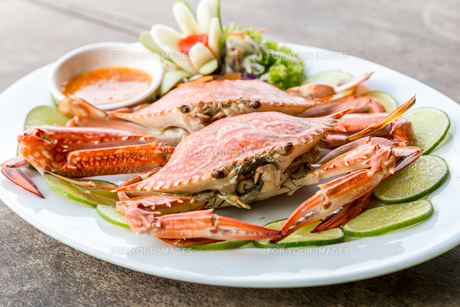steam crab seafoodの写真素材 [FYI00662426]