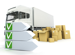 Truck delivery checklistの写真素材 [FYI00662454]