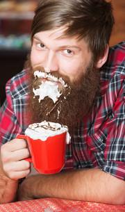 Man with Foam on Beardの写真素材 [FYI00662499]