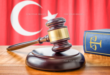 gavel and law book - turkeyの写真素材 [FYI00662523]