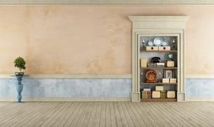 Vintage Room with classic stone portalの写真素材 [FYI00662686]