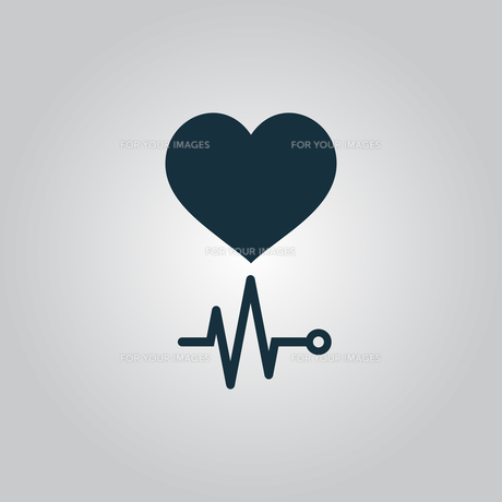 Heart with its cardiogramの写真素材 [FYI00662693]