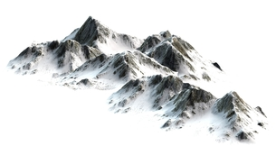 snowy mountains - peaks - isolated on white backgroundの写真素材 [FYI00662811]