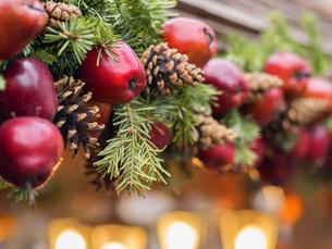 Apple decoration Christmas Marketの写真素材 [FYI00662818]