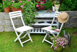 garden outdoor furnitureの写真素材 [FYI00662862]