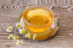 hot chamomile teaの写真素材 [FYI00662918]