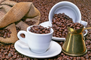 Turkish coffee potの写真素材 [FYI00663025]