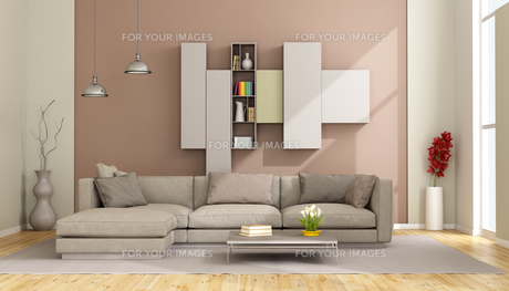 Modern living roomの写真素材 [FYI00663034]