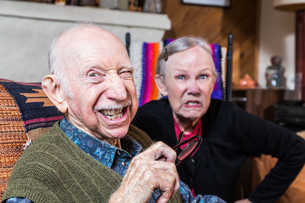 Angry Old Coupleの写真素材 [FYI00663198]