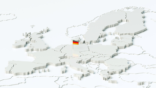 europe as a rendering with a flag of germanyの素材 [FYI00663534]