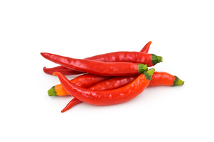 Red chili pepper isolated on a white backgroundの写真素材 [FYI00663580]