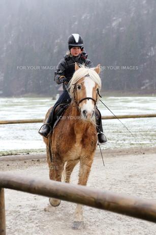 equestrian trainingの写真素材 [FYI00663581]