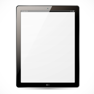 The new tablet with white screen and black frameの素材 [FYI00663583]