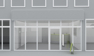 Illustration of shop or office facade. Exteriorの写真素材 [FYI00663609]