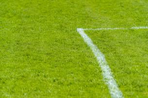 football field goal lineの写真素材 [FYI00663625]