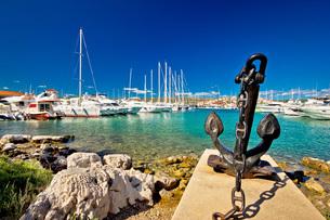 Adriatic town of Rogoznica sailing harborの写真素材 [FYI00663677]