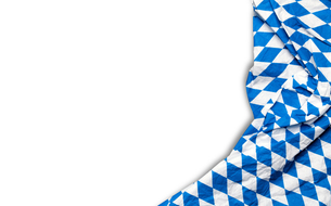 oktoberfest tablecloth on a white backgroundの写真素材 [FYI00663722]