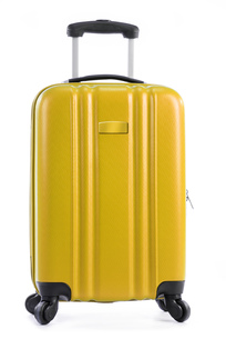 Travel suitcase isolated on white backgroundの写真素材 [FYI00663733]