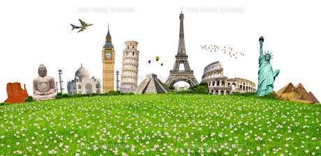 Famous monuments of the worldの写真素材 [FYI00663746]