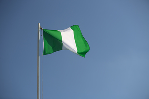 Nigerian flag in the windの素材 [FYI00663807]