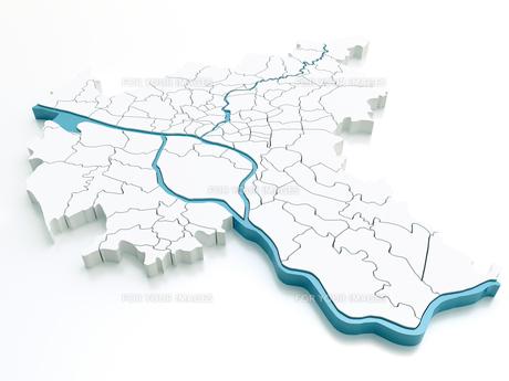 hamburg - districts - 54 megapixelの写真素材 [FYI00663859]