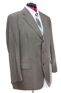 green woolen jacket with shirt and tie isolatedの写真素材 [FYI00663885]