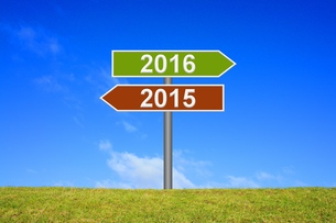 signpost year 2015 2016の写真素材 [FYI00663973]
