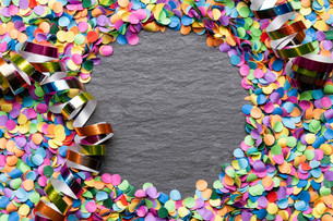 confetti colorful background with copy spaceの写真素材 [FYI00664045]