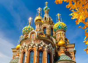 Church of the Savior on Spilled Bloodの写真素材 [FYI00664151]