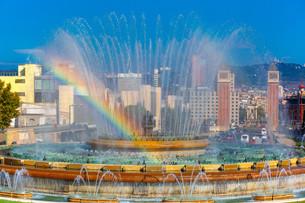 Magic Fountain of Montjuic in Barcelona, Spainの写真素材 [FYI00664160]