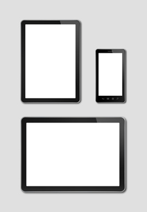 smartphone and digital tablet pc mockupの写真素材 [FYI00664300]