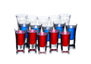 Russian flag cocktail conceptの写真素材 [FYI00664329]