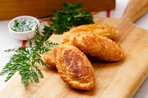 Fried empanadasの写真素材 [FYI00664400]