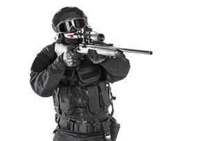 police officer SWATの写真素材 [FYI00664459]