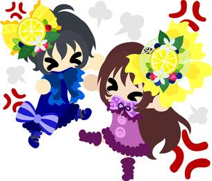 女の子と妖精のイラストのイラスト素材 [FYI00664966]