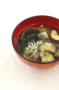 茄子の味噌汁 家庭の味の写真素材 [FYI00665024]